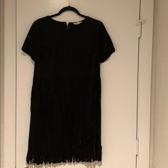 Dresses & Skirts - Faux suede dress with fringe